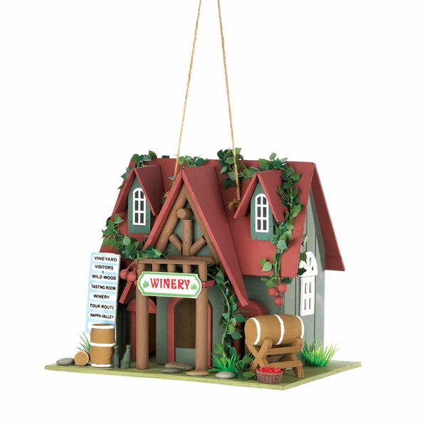 Winery 8 in x 10.25 in x 7 in Birdhouse by Zingz & Thingz