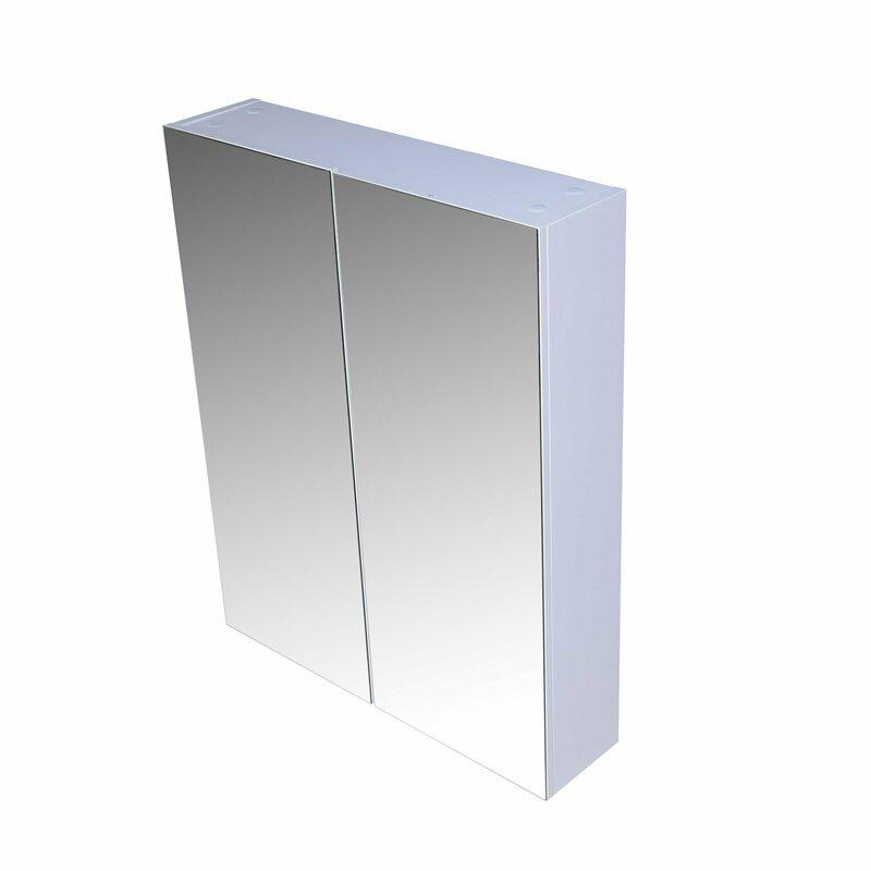 homcom 60 cm x 75 cm spiegelschrank bewertungen. Black Bedroom Furniture Sets. Home Design Ideas