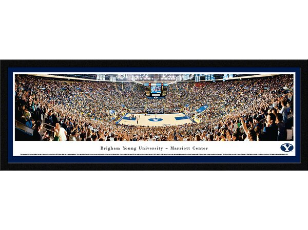 NCAA Brigham Young University - Basketball by James Blakeway Framed Photographic Print by Blakeway Worldwide Panoramas, Inc