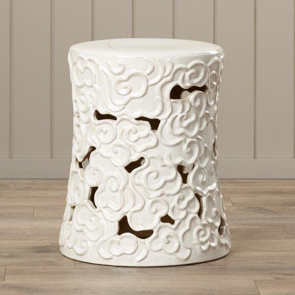 Beckham Ceramic Garden Stool by World Menagerie World Menagerie