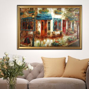 Le Petit Café' by Nan F Framed Painting on Canvas by Wexford Home