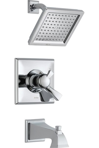 Dryden Diverter Tub and Shower Faucet with Lever Handle and Monitor by Delta