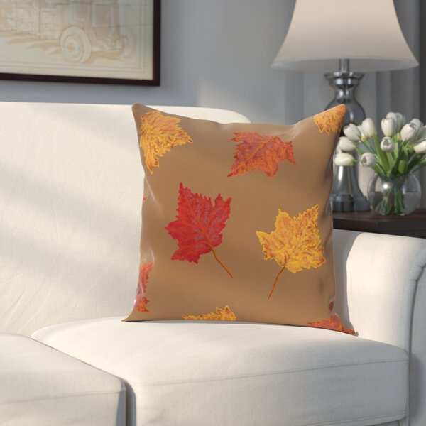 Stegall Leaves Print Throw Pillow by Alcott Hill