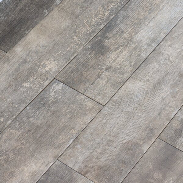 Farmstead 6 x 24 Porcelain Wood Look Tile in Winder by Parvatile