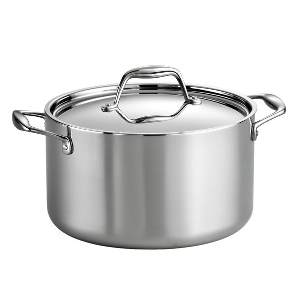 Gourmet Tri-Ply Clad  6 Qt. Stock Pot with Lid by Tramontina