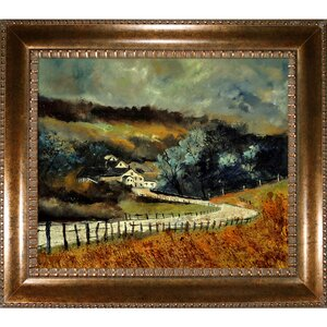 Ledent - Sechery in Autumn Framed Painting Print by Tori Home