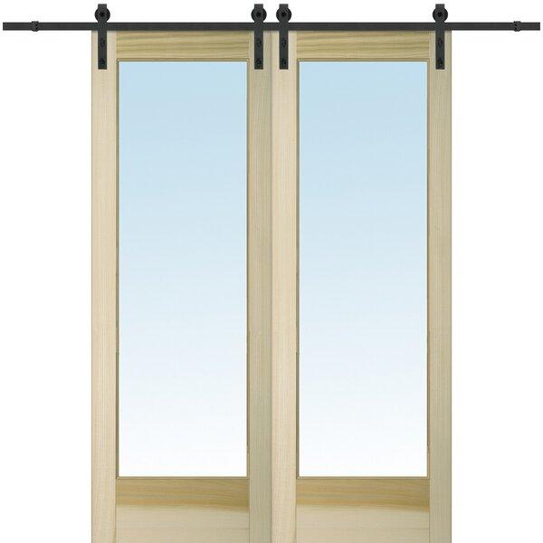Wood 2-Panel Natural Interior Barn Door by Verona Home Design