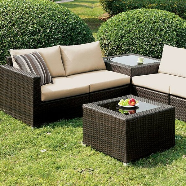 Corbett Patio Sectional with Cushions by Brayden Studio