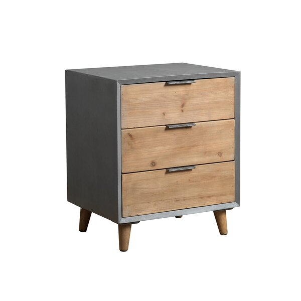 Renda Wooden 3 Drawer Accent Cabinet by Wrought Studio