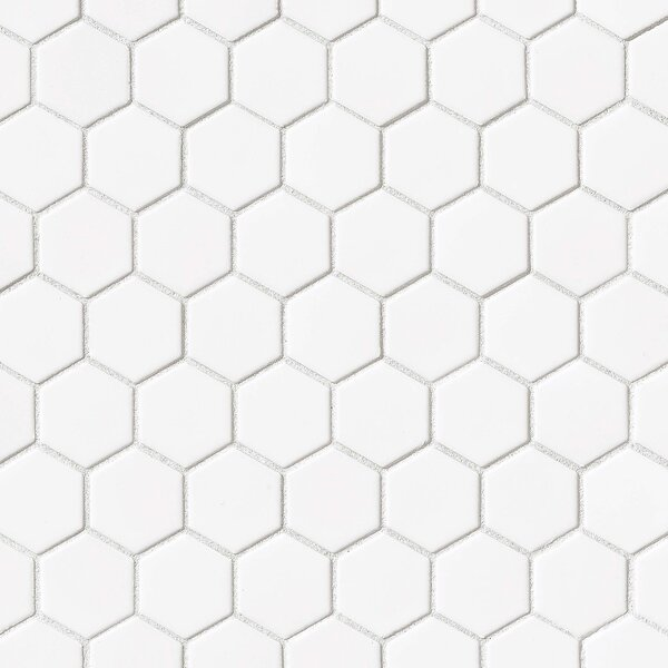 Hex 2 x 2 Porcelain Mosaic Tile in Glossy White by Grayson Martin