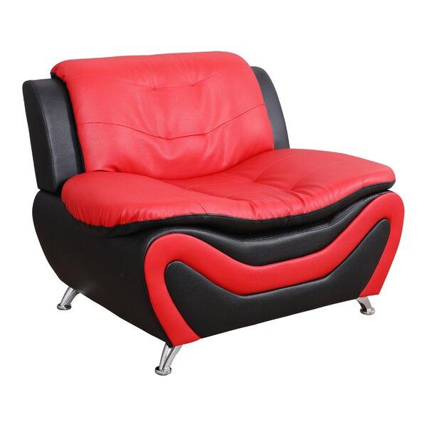 Kinsley Faux Leather Slipper Chair by Orren Ellis