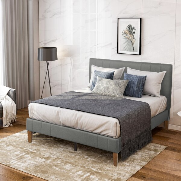 Aquila Queen Upholstered Platform Bed by Latitude Run