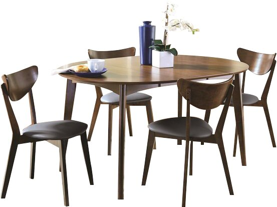 Driffield 5 Piece Extendable Solid Wood Dining Set by Corrigan Studio