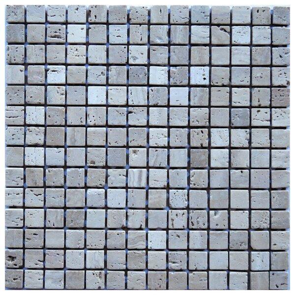 Cosenza 0.8 x 0.8 Travertine Mosaic Tile in Beige by NovoTileStudio