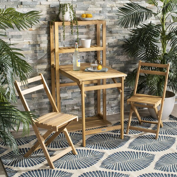 Dayse 3 Piece Bistro Set by Bungalow Rose