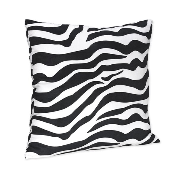 Zebra Microsuede Throw Pillow by Sweet Jojo Designs