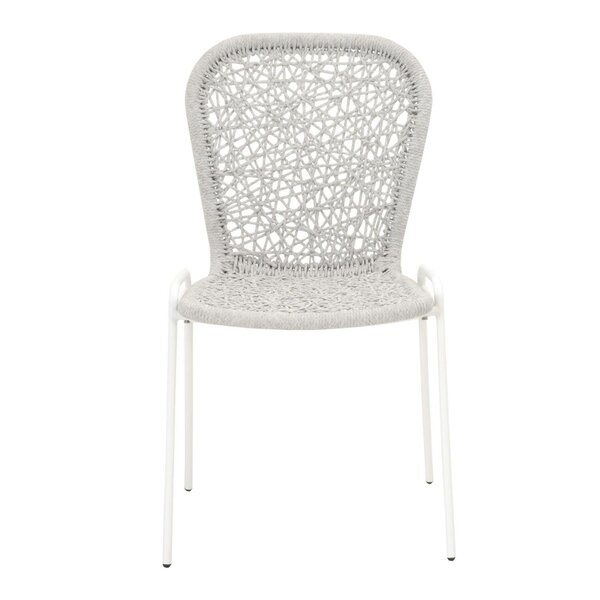 Arnoldo Intricate Rope Weave Dining Chair (Set of 4) by Bungalow Rose