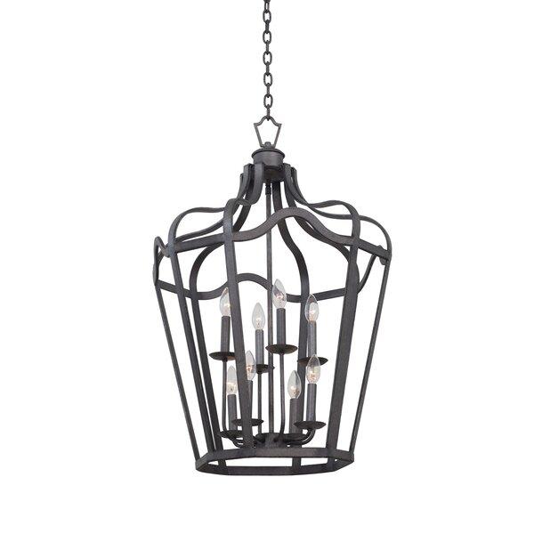 Livingston 6 - Light Lantern Geometric Chandelier By Kalco