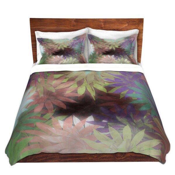 Socha Pam Amos Forest Flowers Microfiber Duvet Cover Set