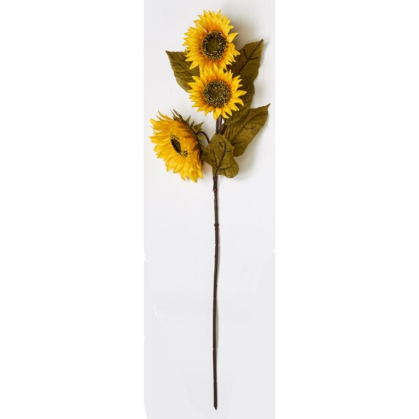 Sunflower Stem (Set of 3) by August Grove