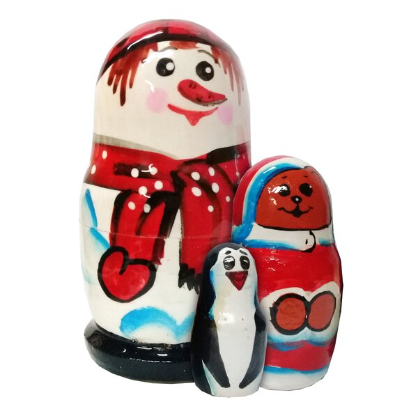 Snowman Family 3 Piece Nest Doll Set by The Holiday Aisle