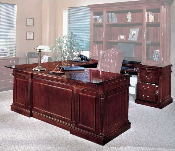 Flannagan Left Return U-Shape Executive Desk by Three Posts