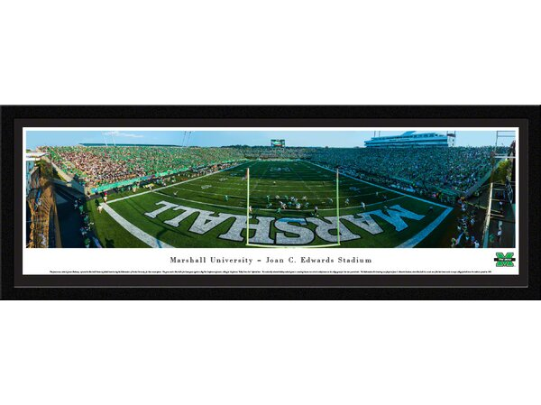 NCAA Marshall University - Football - End Zone by James Blakeway Framed Photographic Print by Blakeway Worldwide Panoramas, Inc