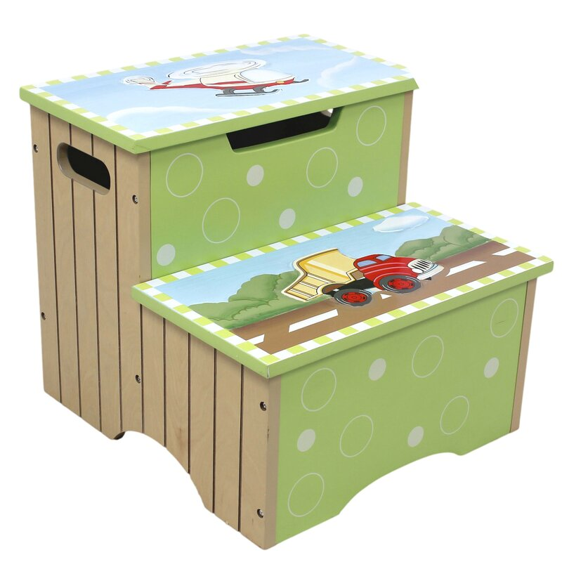 Fantasy Fields Transportation Step Stool With Storage