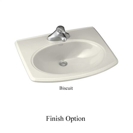 Pinoir Ceramic Oval Drop-In Bathroom Sink by Kohler