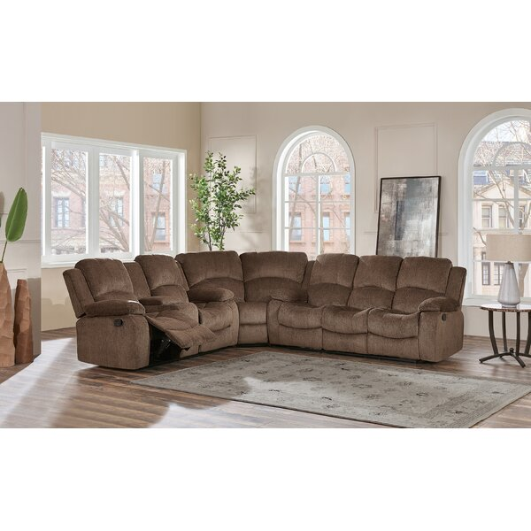 Knizair Left Hand Facing Reclining Sectional by Red Barrel Studio