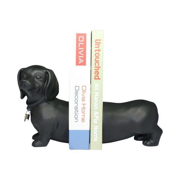 Dachshund Dog Book Ends (Set of 2) by Latitude Run