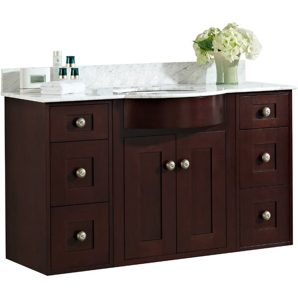 Kester Transitional 48 Rectangle Single Bathroom Vanity Set with Stone Top by Darby Home Co