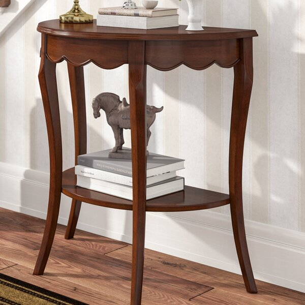 Review Asheville Half Moon Wood Console Table