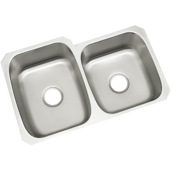 McAllister 32 L x 21 W Undermount Unequal Double Basin Kitchen Sink by Kohler