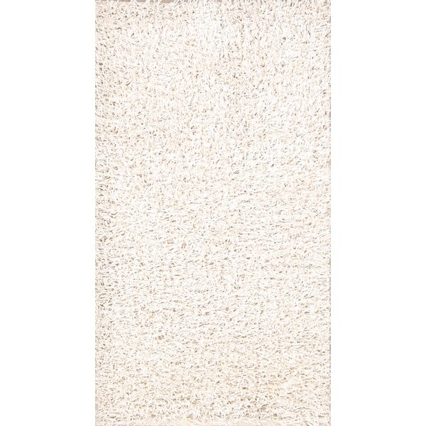 One-of-a-Kind Lilliana Shaggy Oriental Hand-Knotted Wool Beige/Ivory Area Rug by Red Barrel Studio