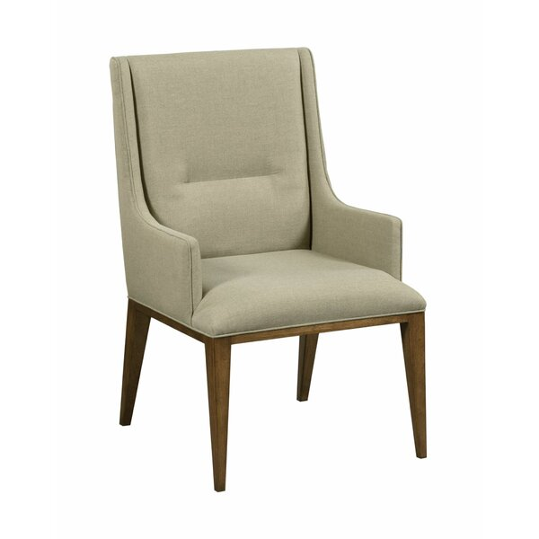Rayna Upholstered Arm Dining Chair in Color by Foundry Select Foundry Select