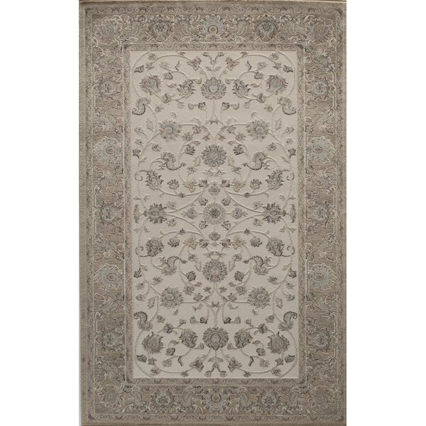 Sheldon Ivory/Tan Area Rug by Threadbind