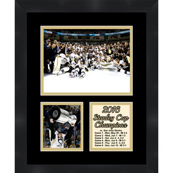 Pittsburgh Penguins Sidney Crosby Holding the 2016 Stanley Cup Collage Framed Photographic Print by Frames By Mail