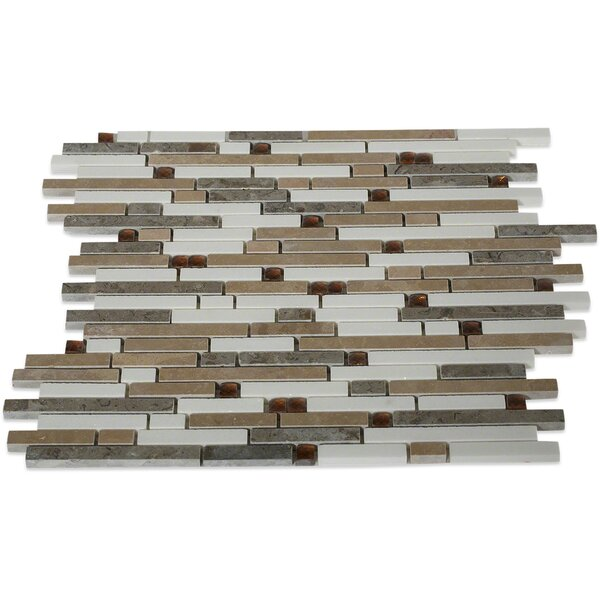 Fable Random Sized Glass Mosaic Tile in Might by Splashback Tile