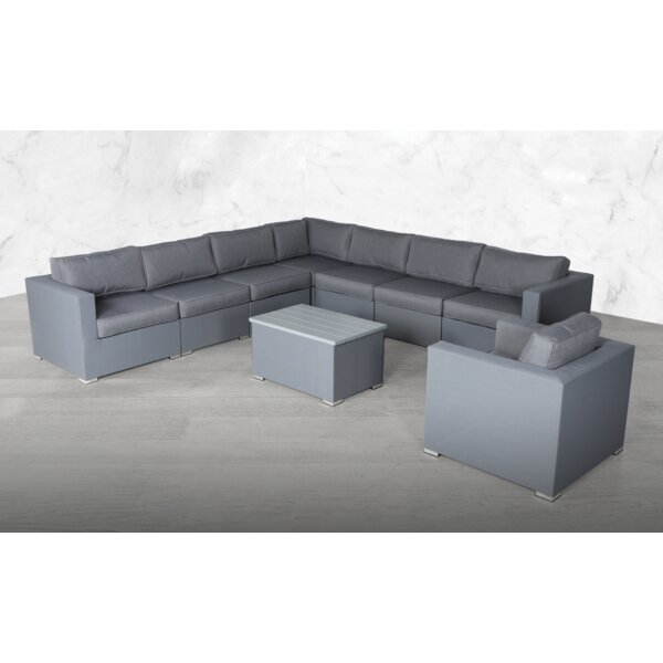 Froehlich Modular L Shape 9 Piece Sectional Seating Group with Cushions by Orren Ellis