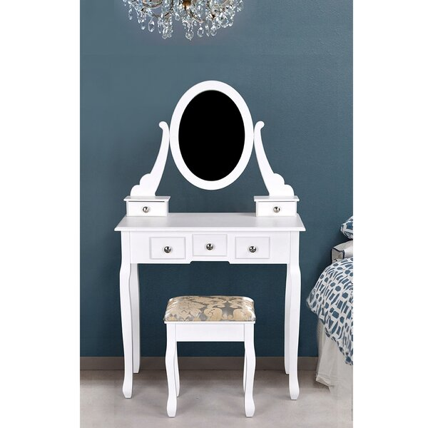 Harber Vanity Set with Mirror by House of Hampton