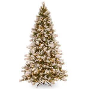 75u0027 pine artificial christmas tree with 650 clear lights with stand