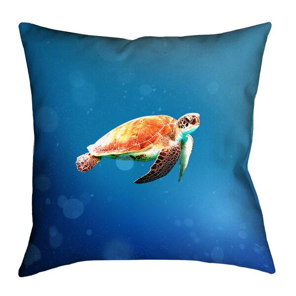 Sea Turtle Indoor Euro Pillow by East Urban Home