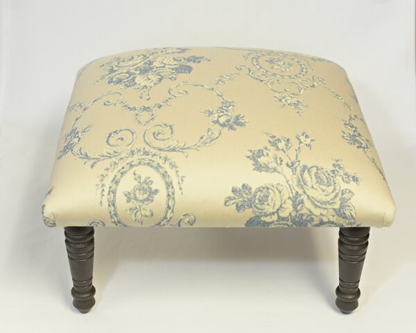 Maxine Toile Flora Bouquet Accent Stool by Corona Decor