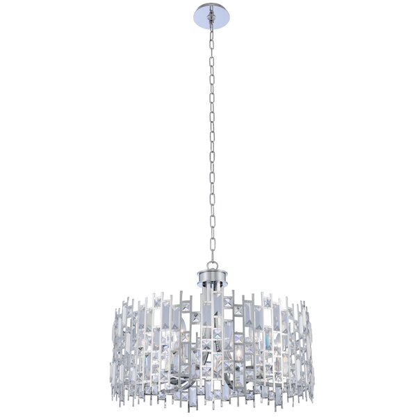 Glenys 6-Light Unique / Statement Drum Chandelier By Everly Quinn