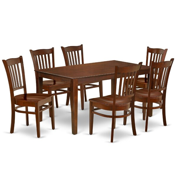 Kimberlee 7 Piece Solid Wood Dining Set By Alcott Hill