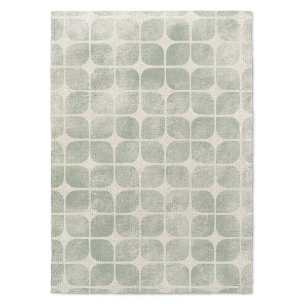Alluvial Cream/Green Area Rug by Harriet Bee