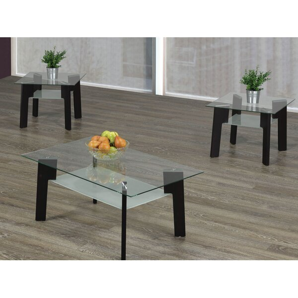 Retta 3 Piece Coffee Table Set by Orren Ellis Orren Ellis