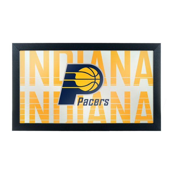 NBA City Framed Logo Accent Mirror by Trademark Global
