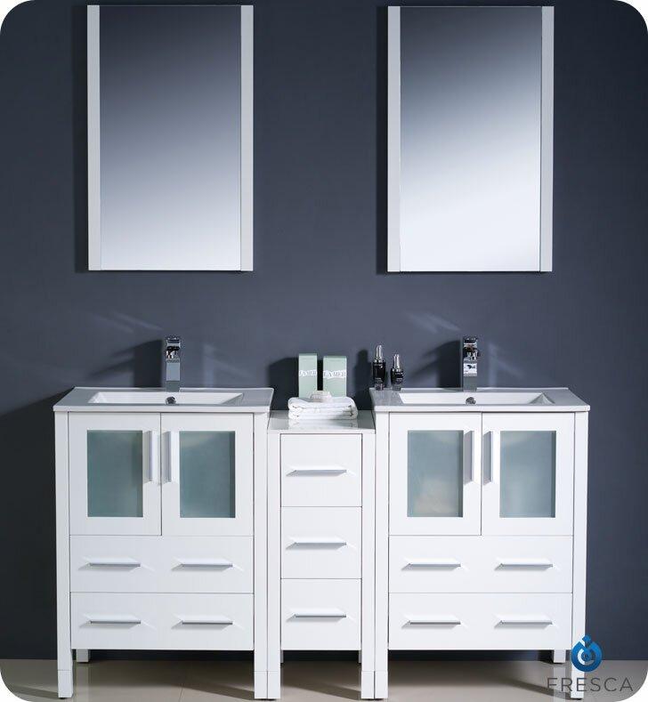 "Bathroom Vanity Sets fresca torino 60"" double modern sink bathroom vanity set with"
